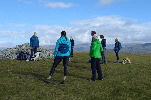 Future Fixers Forum Networking walk at the cairn on Cunswick Scar